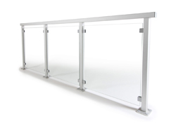 Garde corps en verre avec poteaux en aluminium