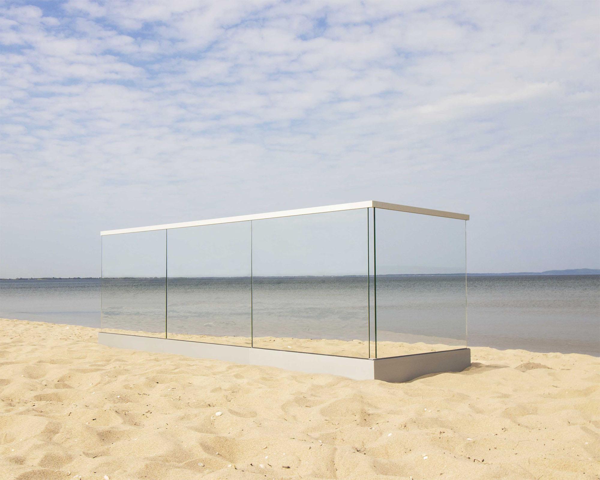 Rambarde en verre extérieure/intérieure