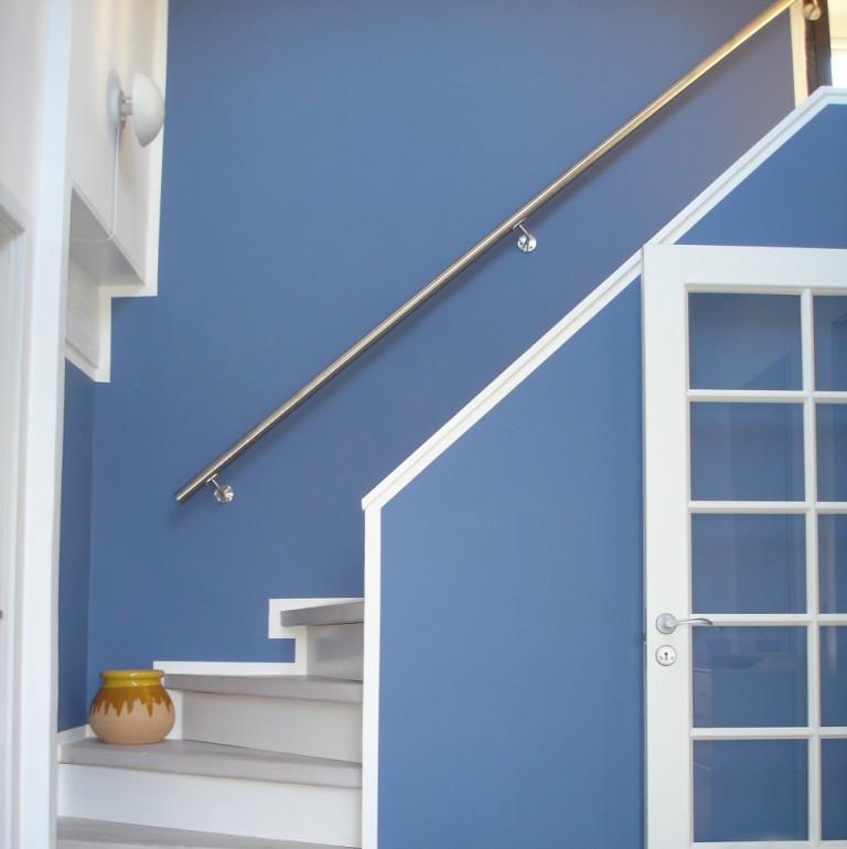 Rampes d'escalier intérieur en inox