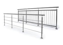 Garde-corps inox avec barres (horizontales ou verticales)
