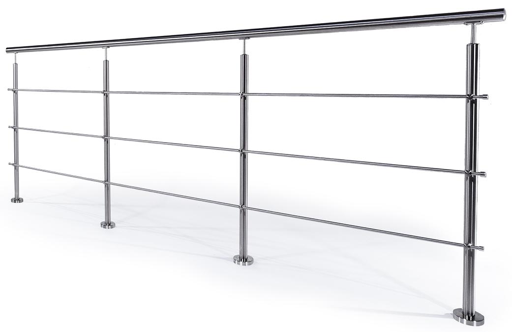 Garde-corps inox avec barres horizontales