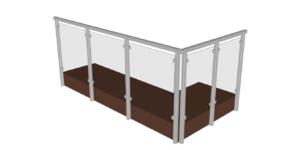 Garde-corps en verre et aluminium